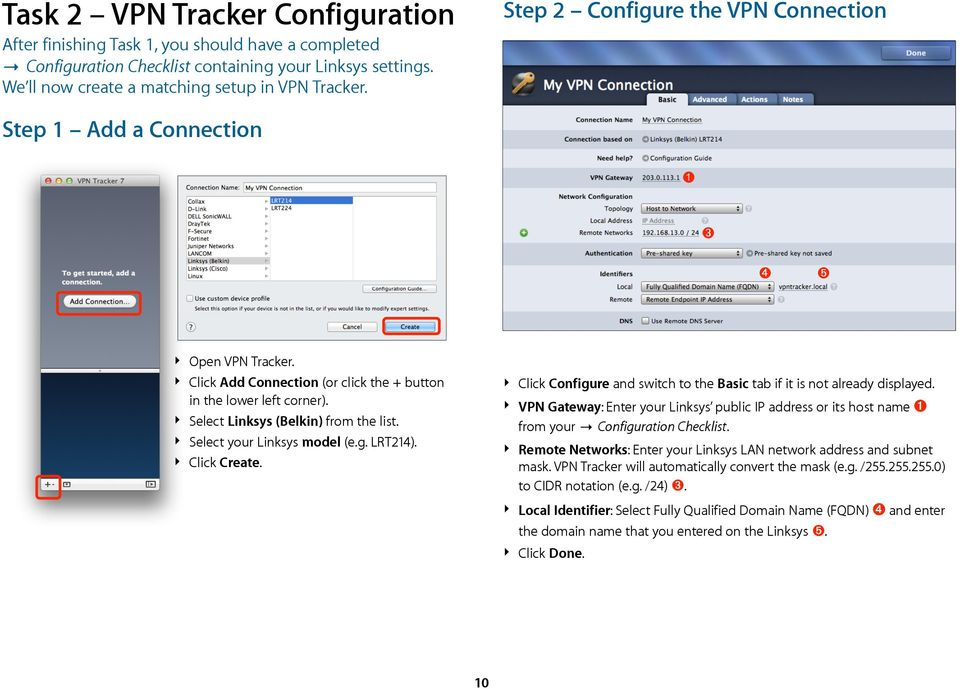 VPN Configuration Guide  Linksys (Belkin) LRT214 / LRT224