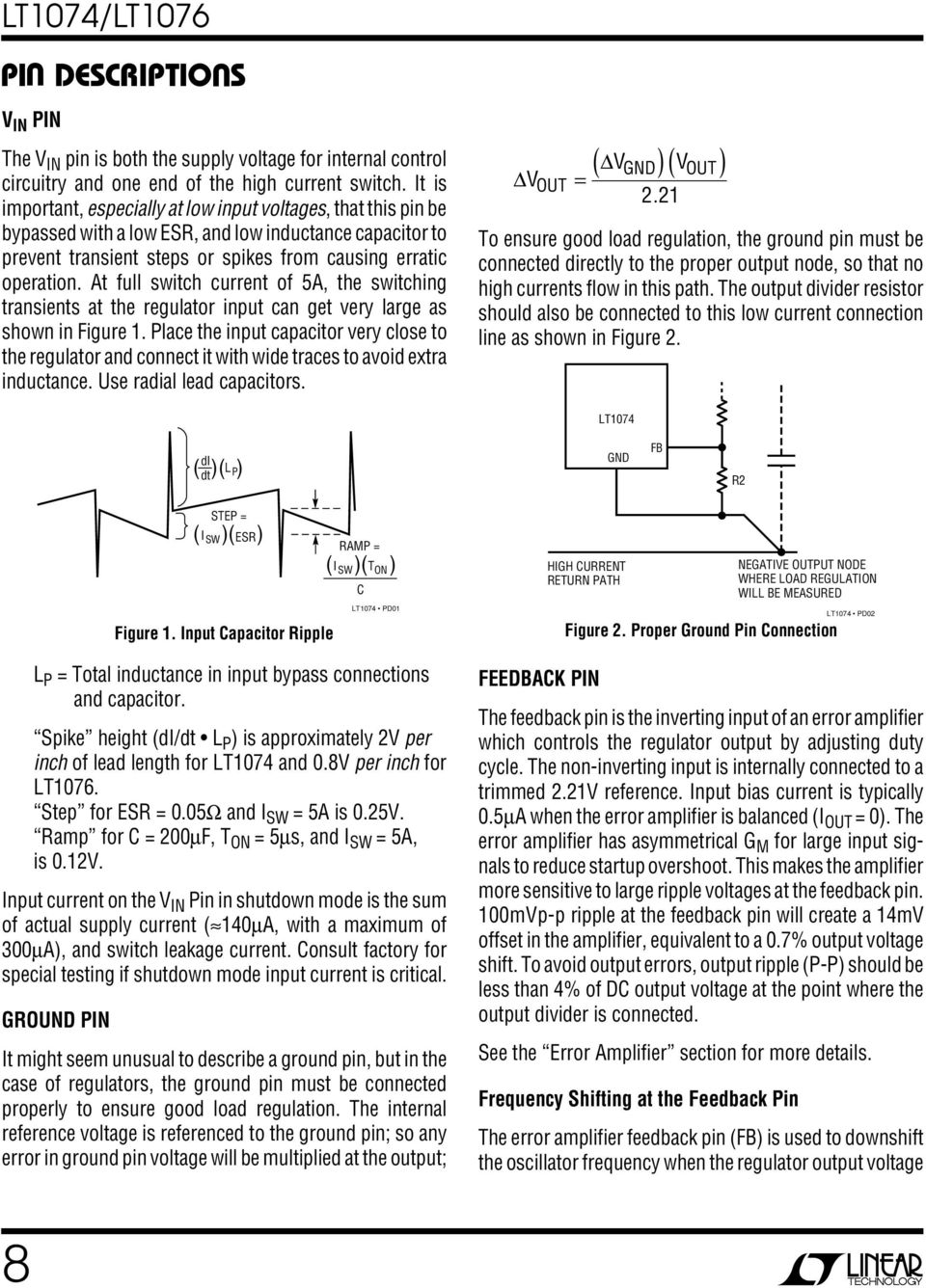 Lt1074 Lt1076 Step Down Switching Regulator Pdf Positive With Pnp Boost At Full Switch Current Of 5a The Transients Input Can Get