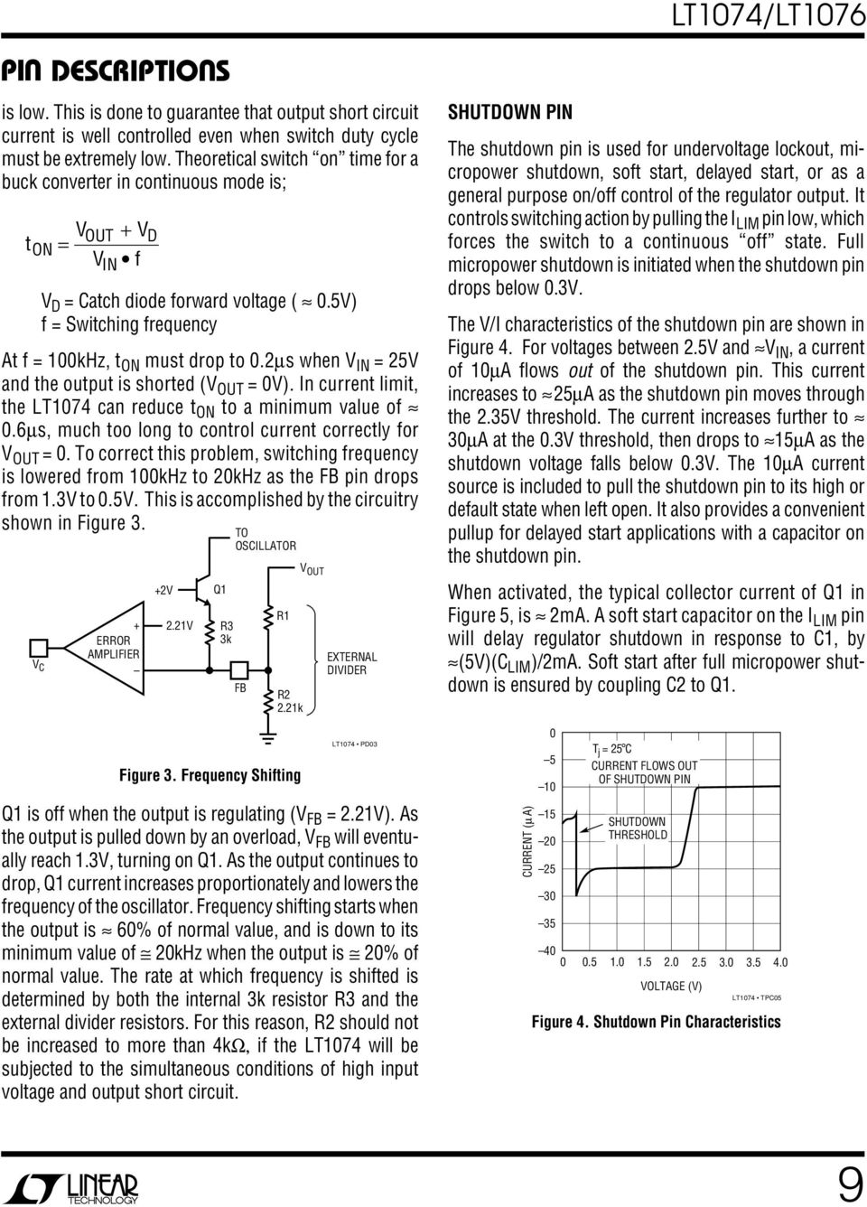 Lt1074 Lt1076 Step Down Switching Regulator Pdf Figure 4 Inverting Voltage Circuit 2s When 25v And The Output Is Shorted V Ot