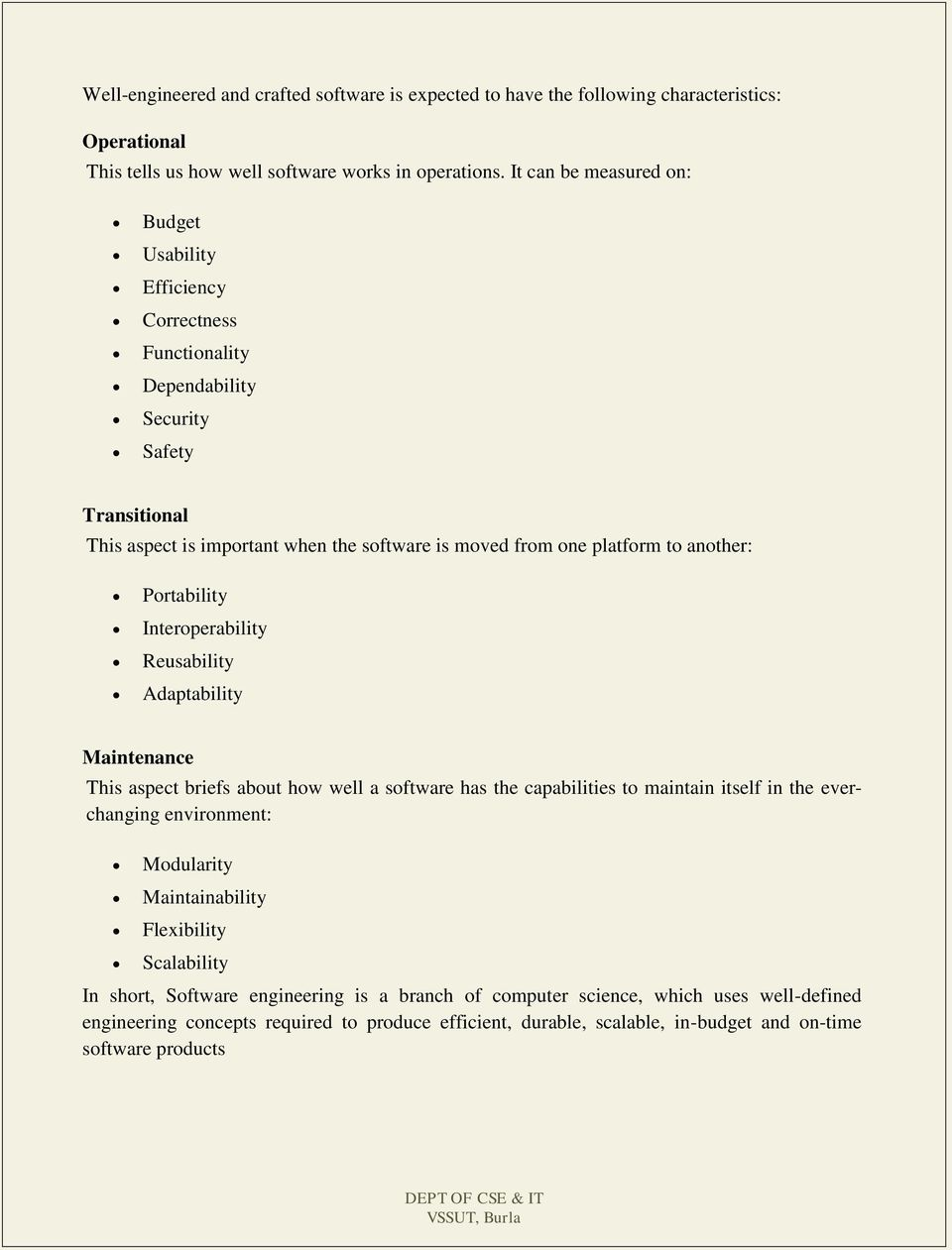 LECTURE NOTES ON SOFTWARE ENGINEERING Course Code: BCS PDF