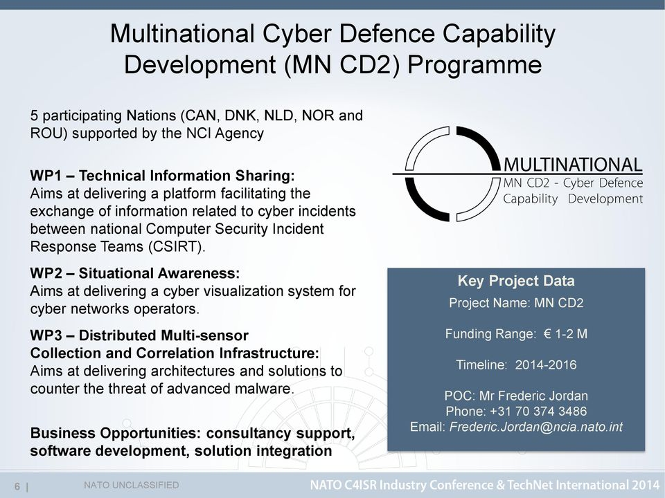 NATO Cyber Security Capabilities & Industry Opportunities Building