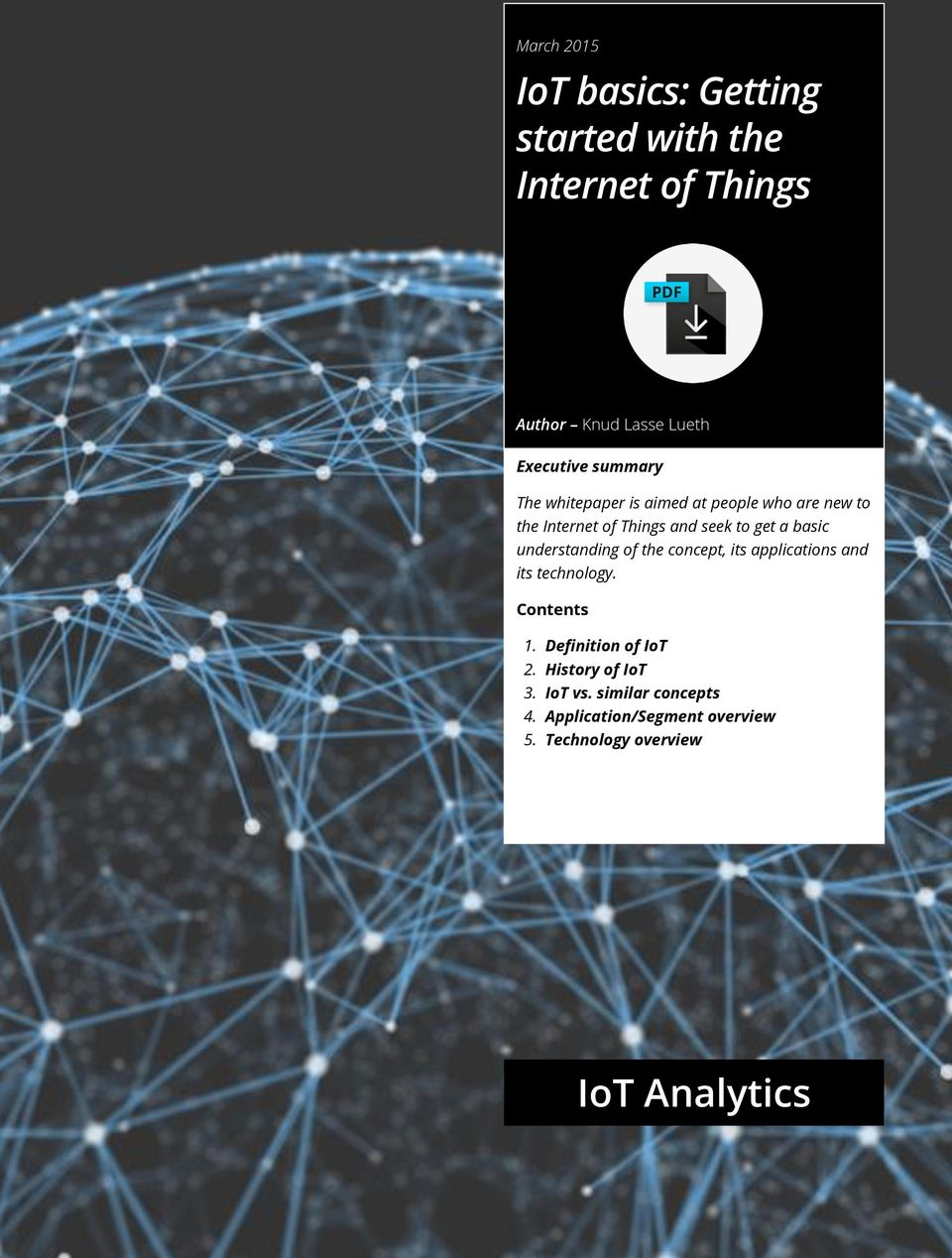 IoT basics: Getting started with the Internet of Things - PDF