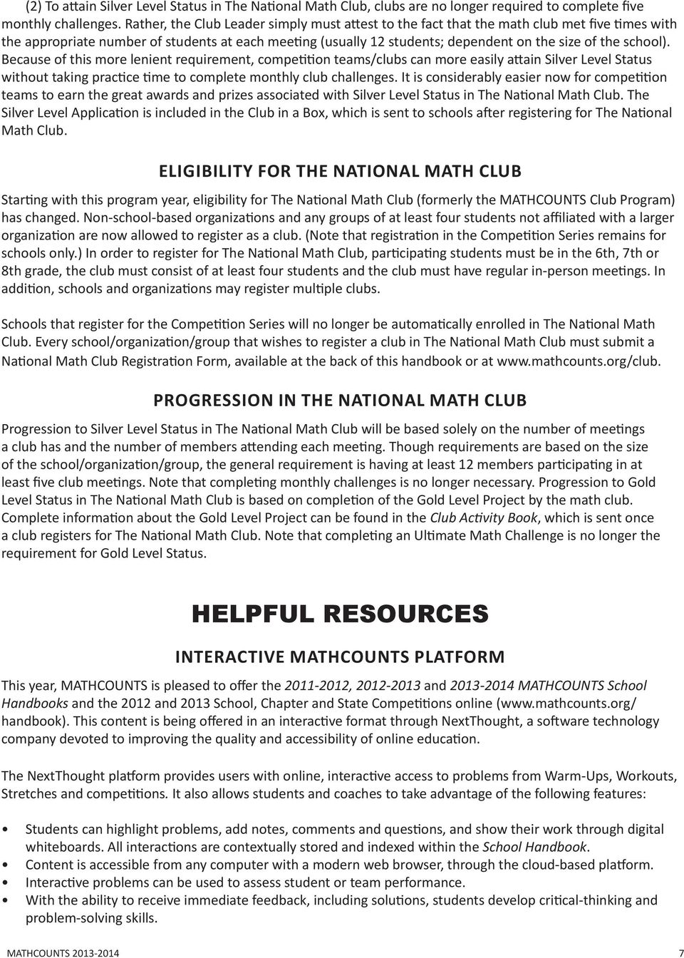 School handbook contains 300 creative math problems that meet nctm mathcounts school because of this more lenient requirement competition teamsclubs can more fandeluxe Choice Image