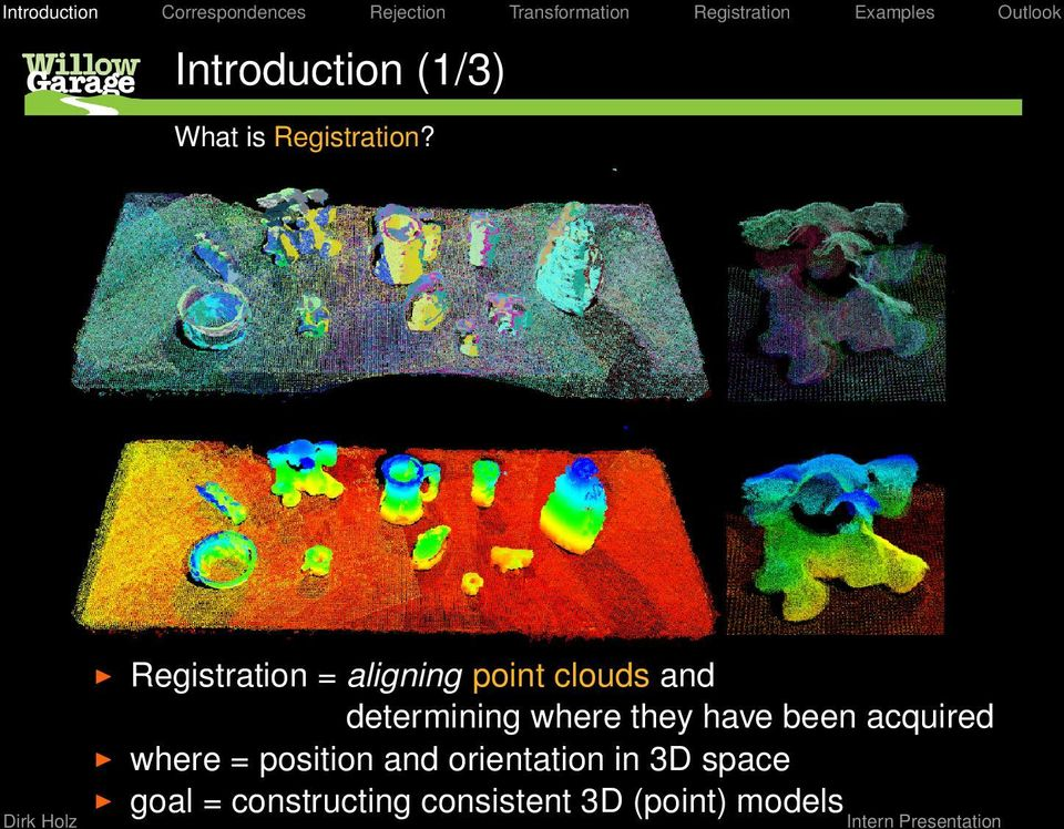 pcl::registration Registering point clouds using the Point