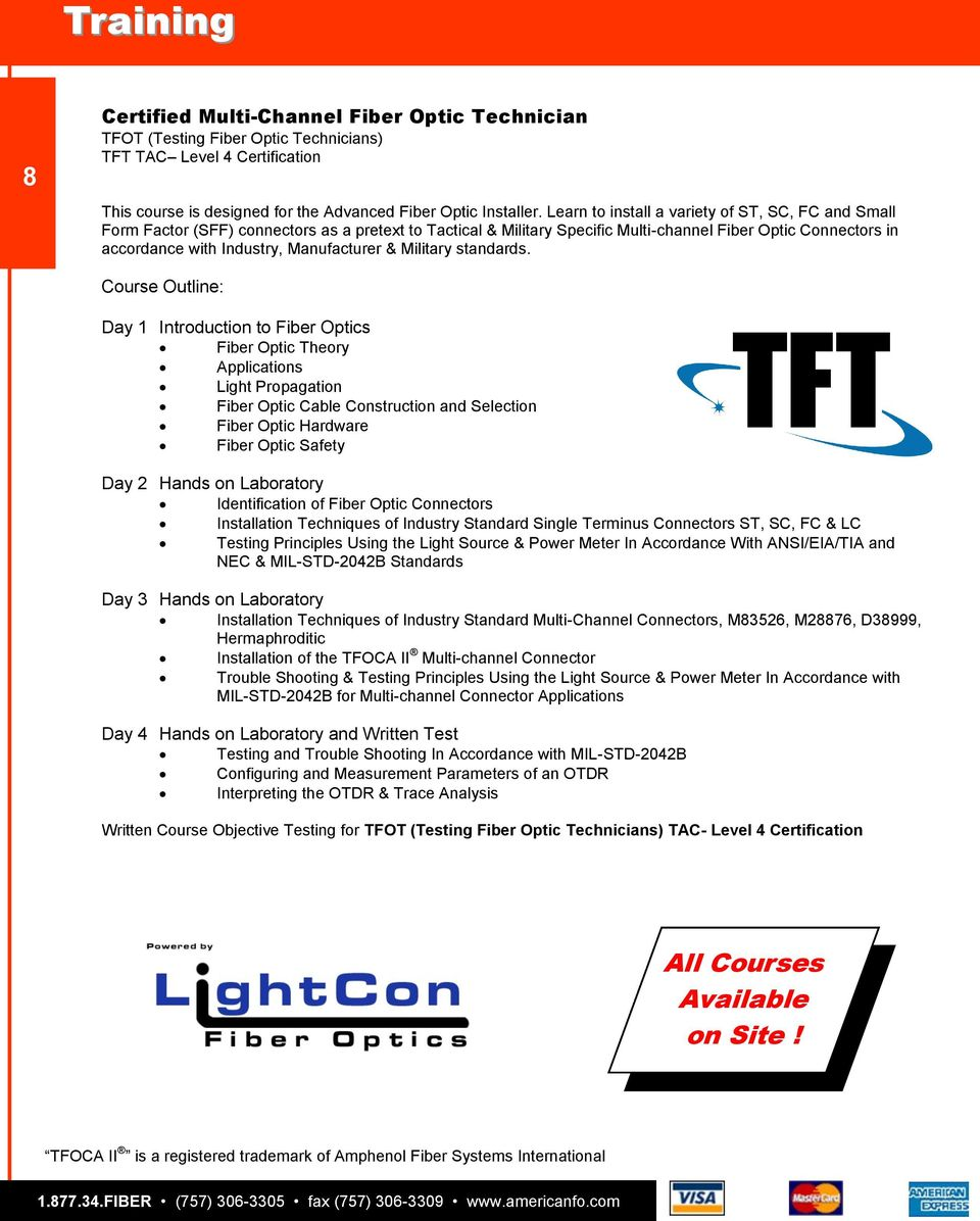 Fiber Military And Commercial Fiber Optics Pdf
