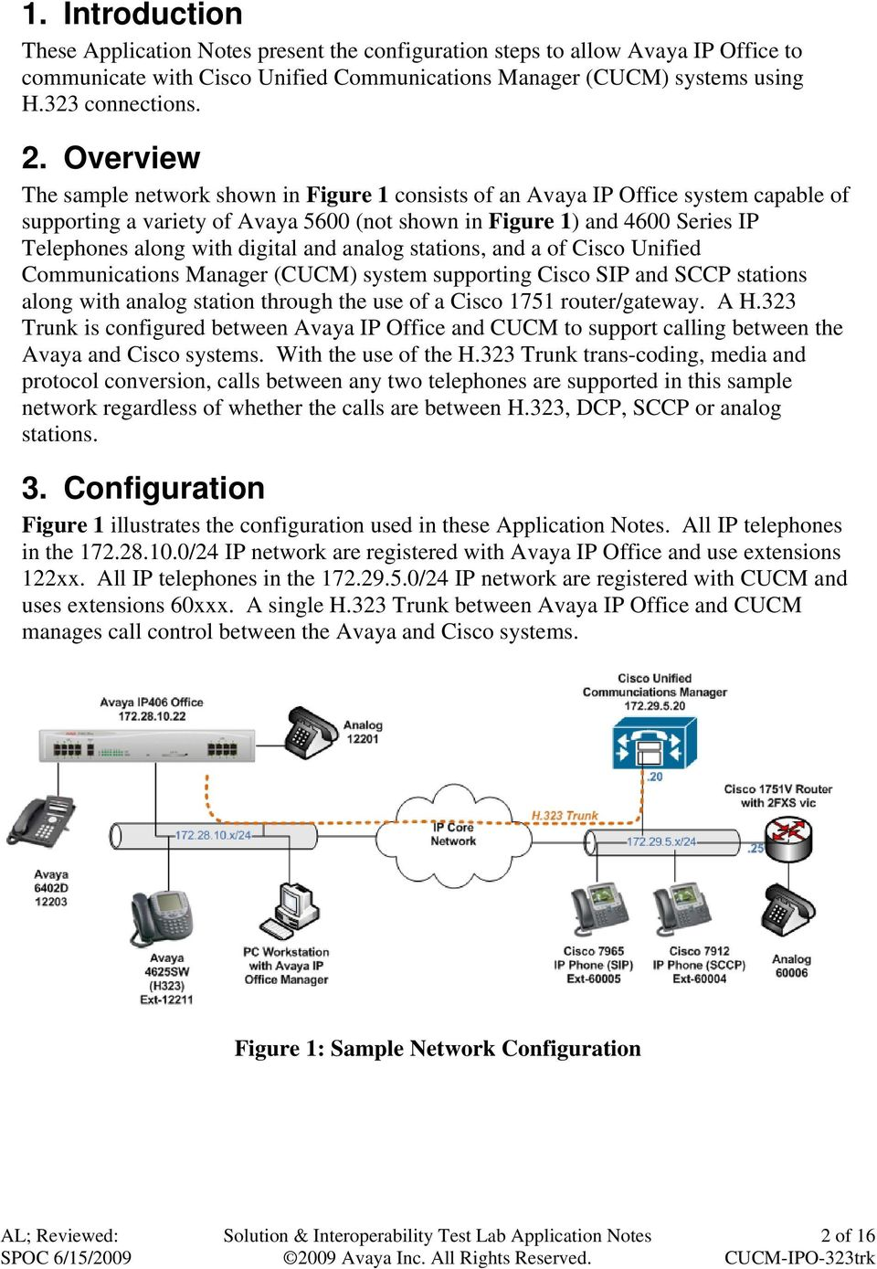 digital and analog stations, and a of Cisco Unified Communications Manager (CUCM) system supporting Cisco SIP and SCCP stations along with analog station through the use of a Cisco 1751
