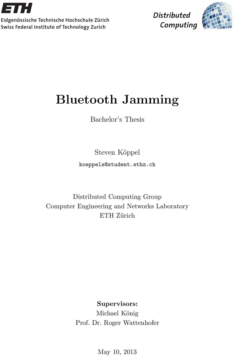 Bluetooth Jamming  Bachelor s Thesis  Steven Köppel  - PDF