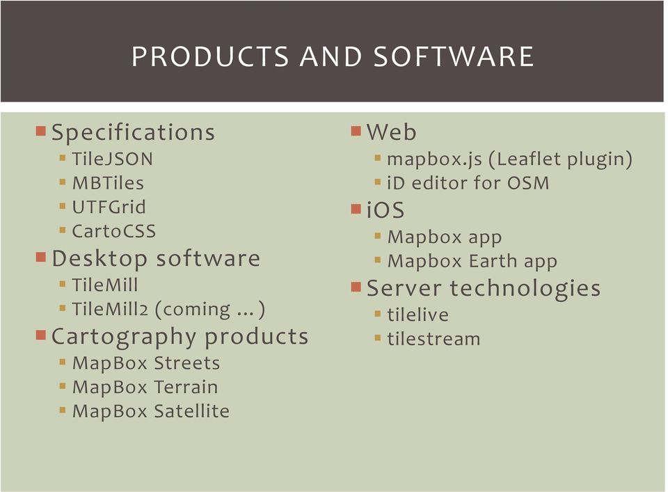 AN INTRODUCTION TO MAPBOX TOOLS AND SOFTWARE  Matt Gregory 24 July PDF