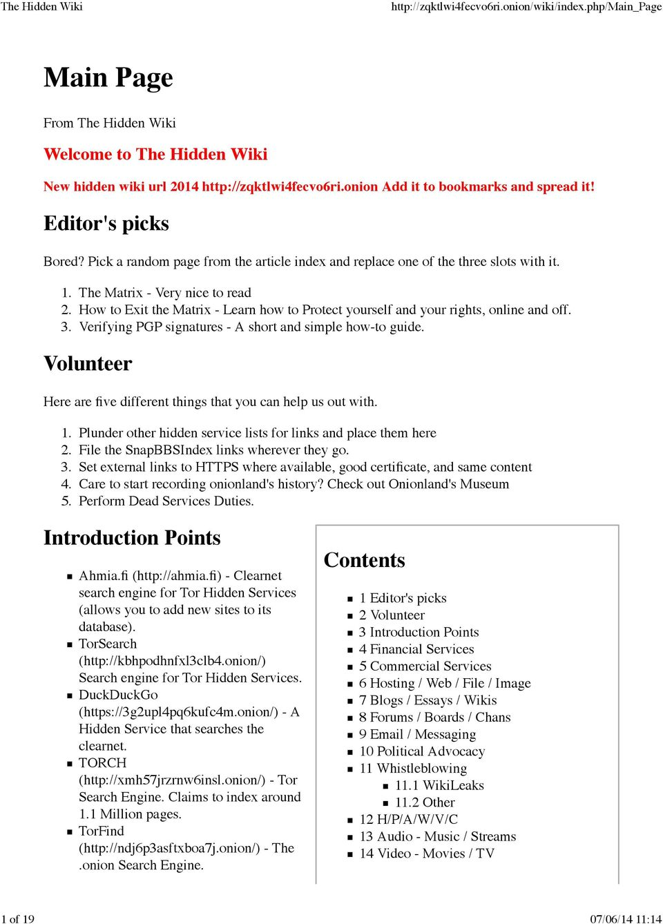 New hidden wiki url Add it to bookmarks and spread it! - PDF