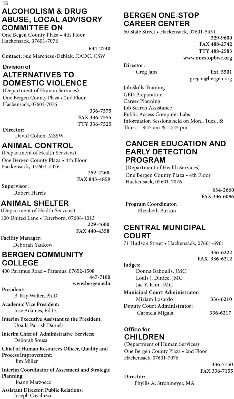 County of Bergen County  and  Municipal - PDF