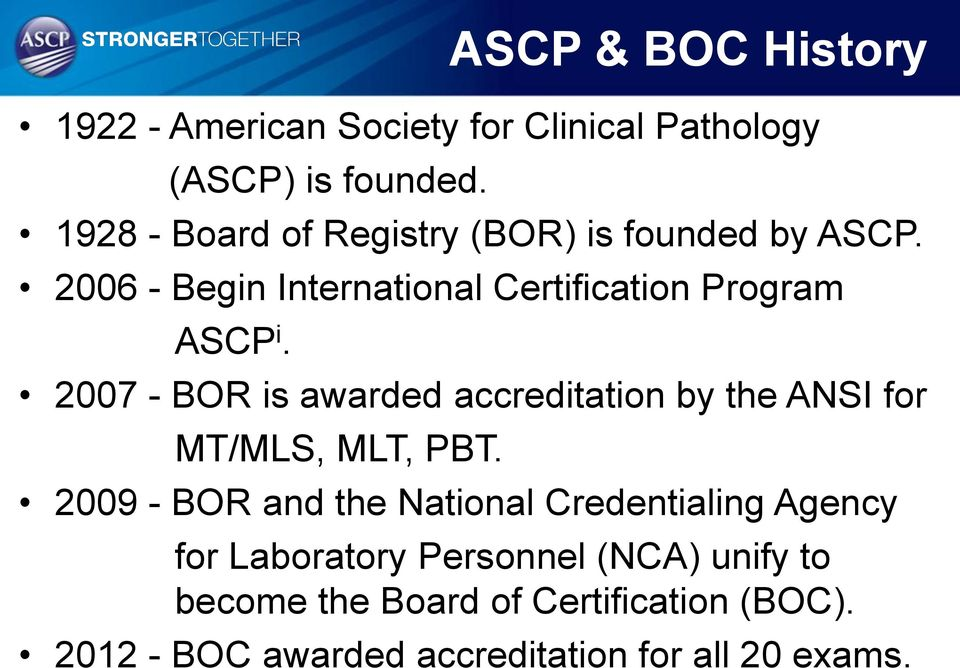 American Society For Clinical Pathology International Certification