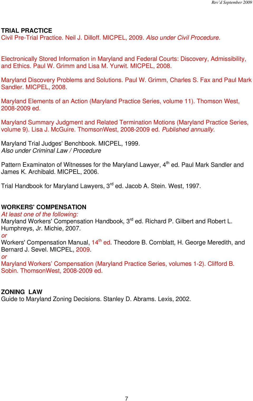 Maryland Civil Procedure Forms With Practice Commentary Robert D