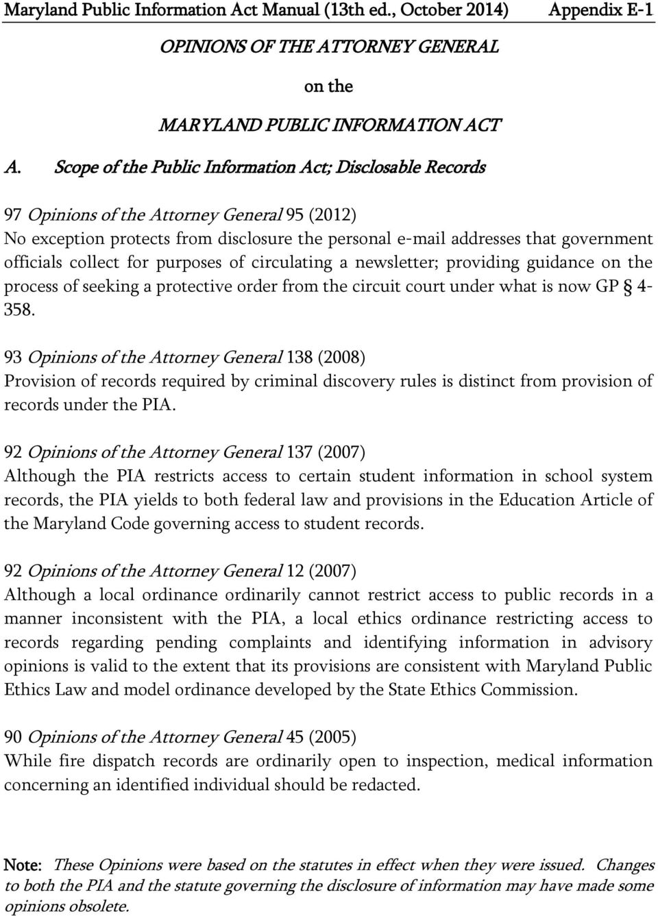 public information on maryland criminal records