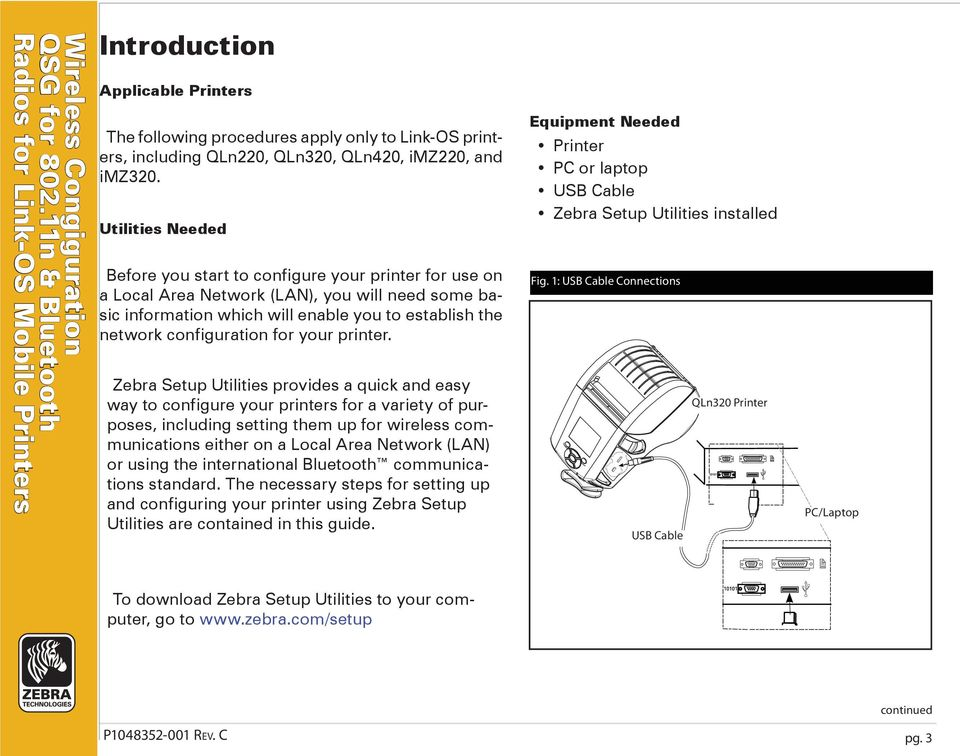 Zebra  Quick Start Guide  Wireless Configuration for n and
