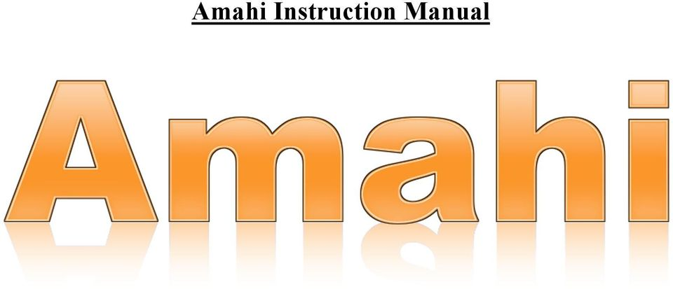 Amahi Instruction Manual - PDF