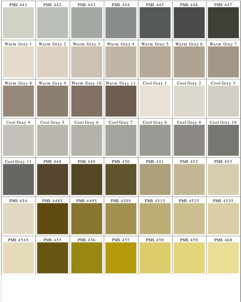 Pantone Matching System Color Chart Pms Colors Used For Printing Pdf