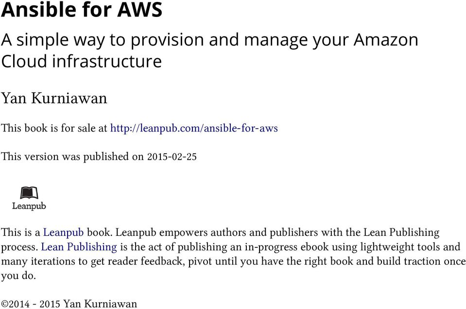 Ansible for AWS  A simple way to provision and manage your Amazon
