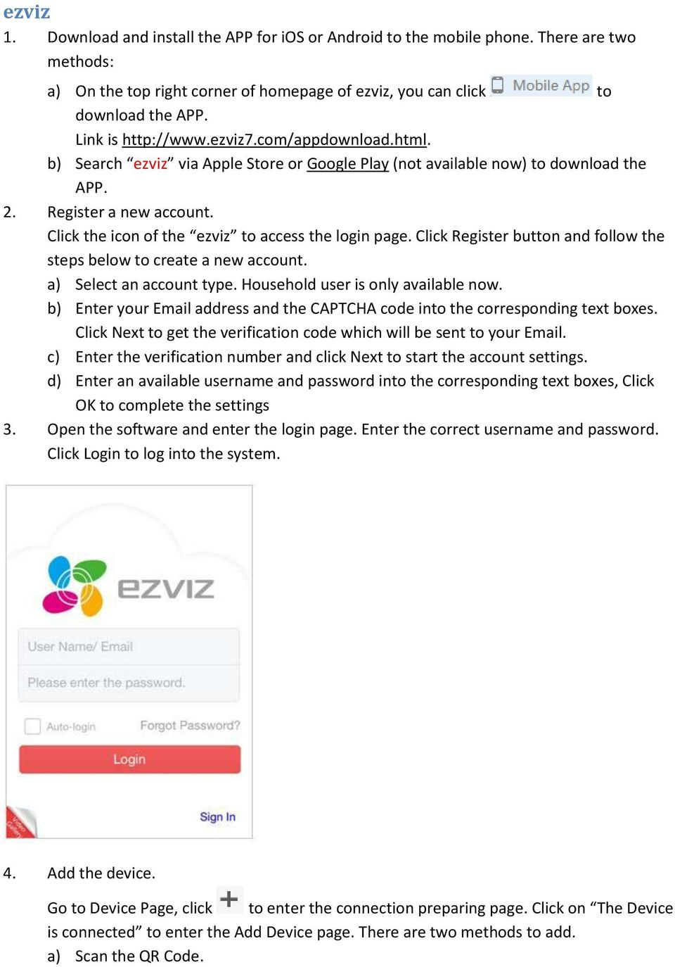 How to preview ezviz device via Web Browser / Mobile Client / Client