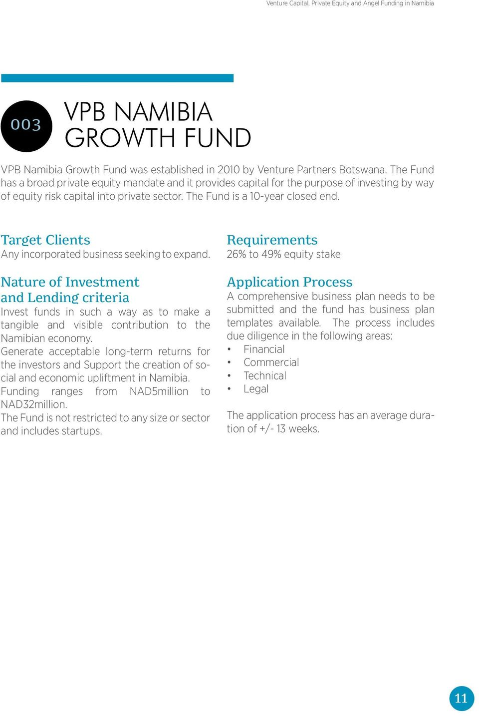 Venture Capital Private Equity And Angle Funding In Namibia PDF - Private equity business plan template