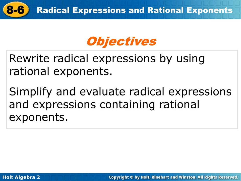 Simplify and evaluate radical