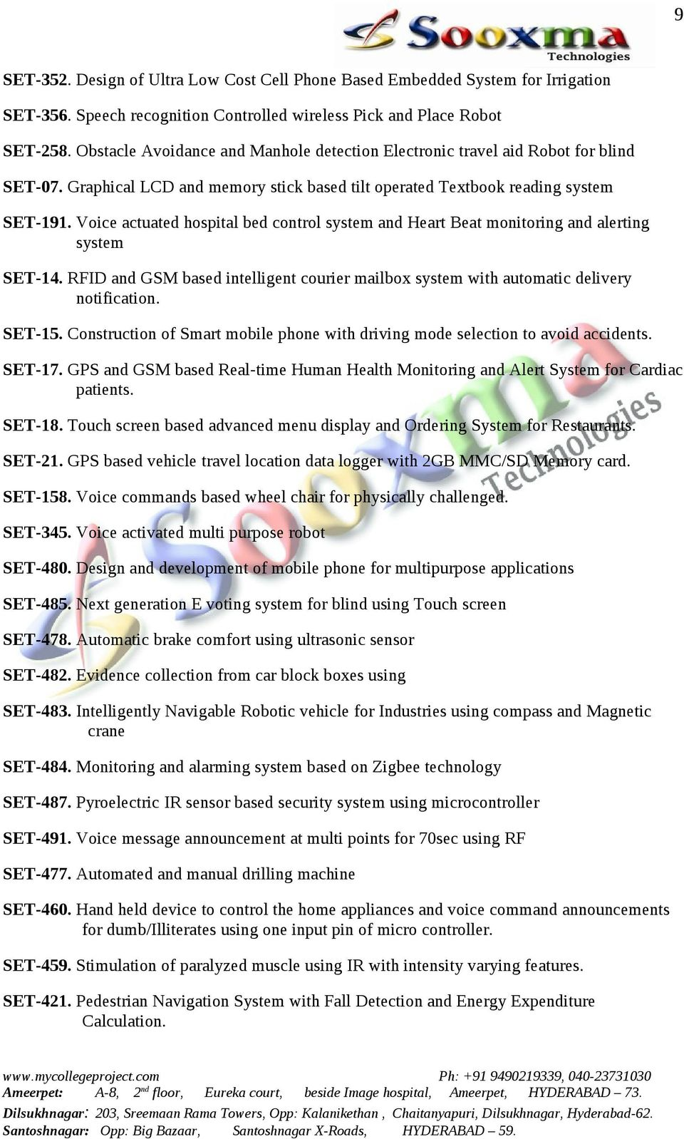 Innovative Ece Final Projects List Pdf Warning Mailbox Electronic Project Circuit Design Schematic Voice Actuated Hospital Bed Control System And Heart Beat Monitoring Alerting Set 14