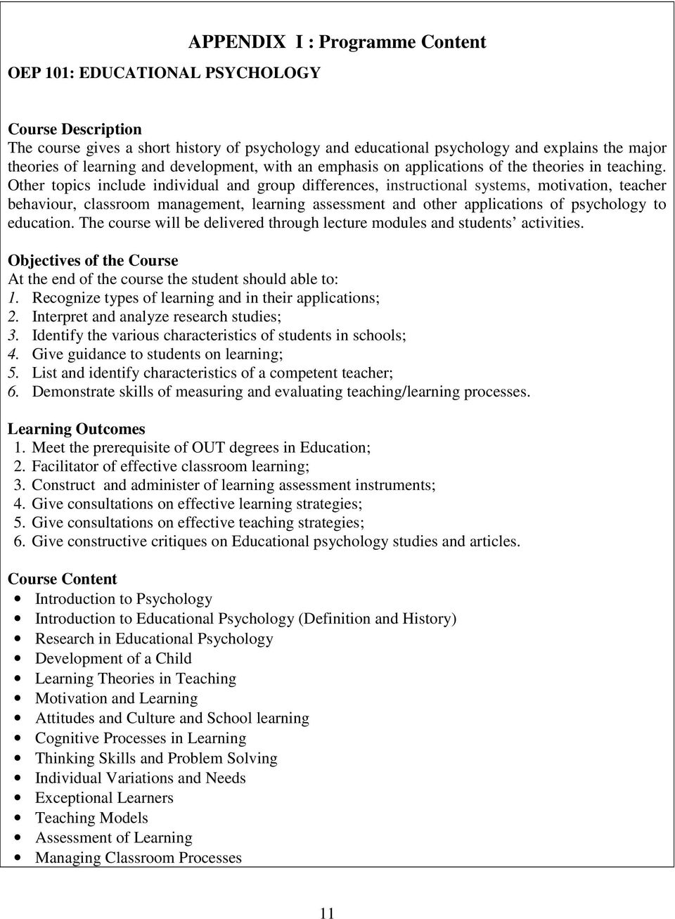 the open university of tanzania faculty of education programme