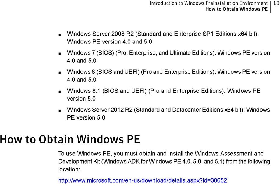 0 Windows Server 2012 R2 (Standard and Datacenter Editions x64 bit): Windows PE version 5.