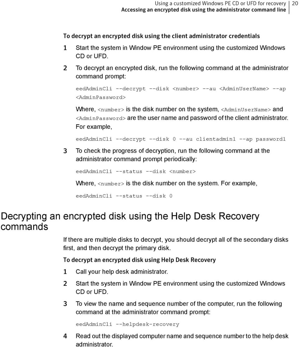 Recovering Encrypted Disks Using Windows Preinstallation Environment