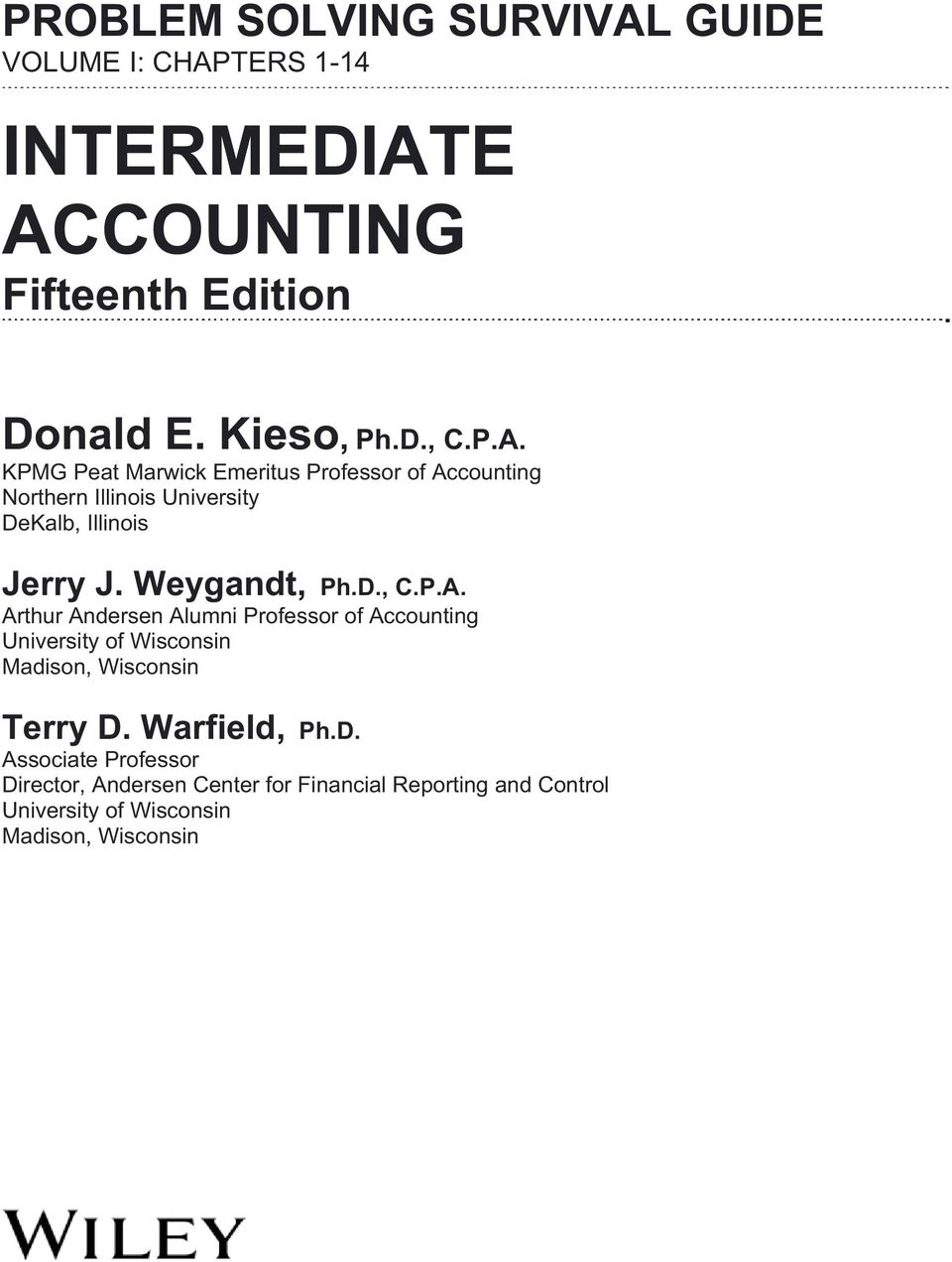 accounting problem solving