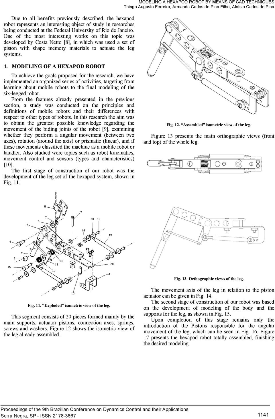 MODELING A HEXAPOD ROBOT BY MEANS OF CAD TECHNIQUES - PDF