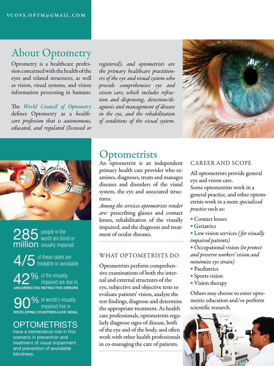 Vidyasagar College Of Optometry Vcovs And Vision Science Bachelor