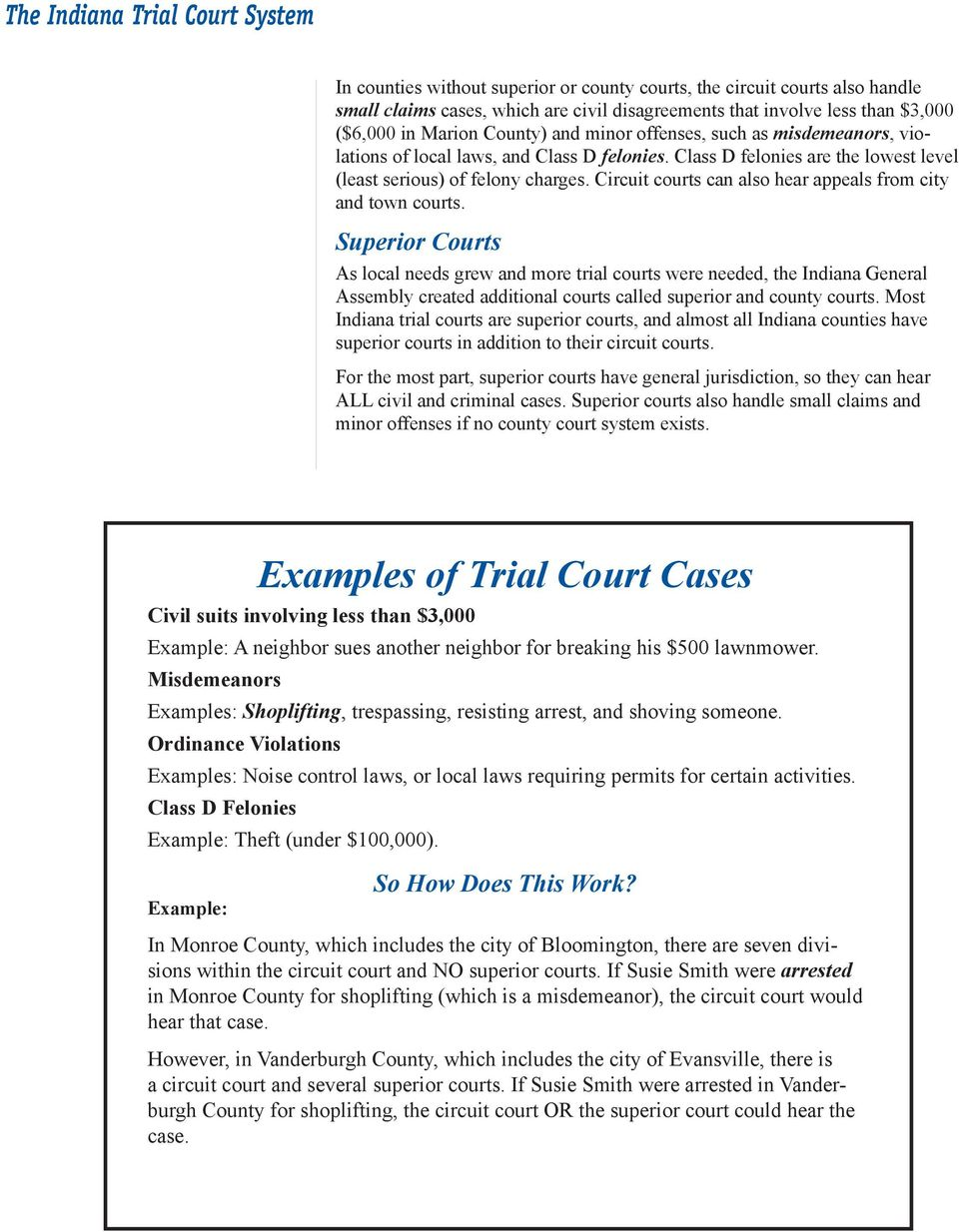The Indiana Trial Court System Pdf