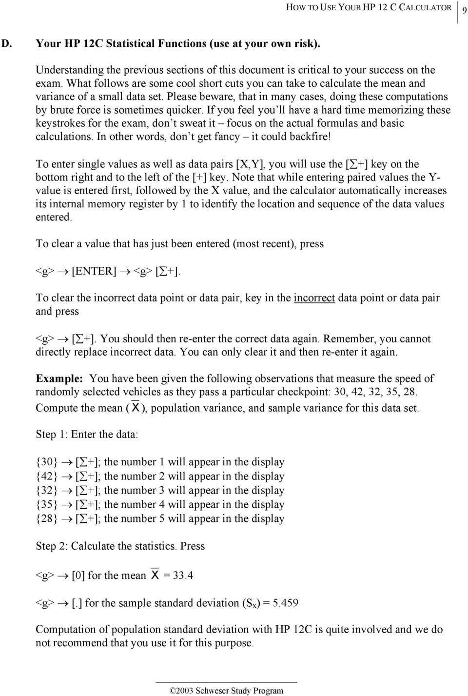 HOW TO USE YOUR HP 12 C CALCULATOR - PDF