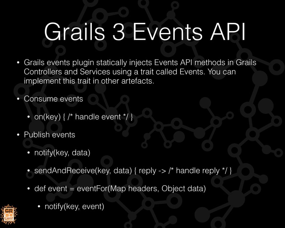 Event driven plugins with grails 3 gran ehrsson technipelago ab pdf you can implement this trait in other artefacts malvernweather Gallery