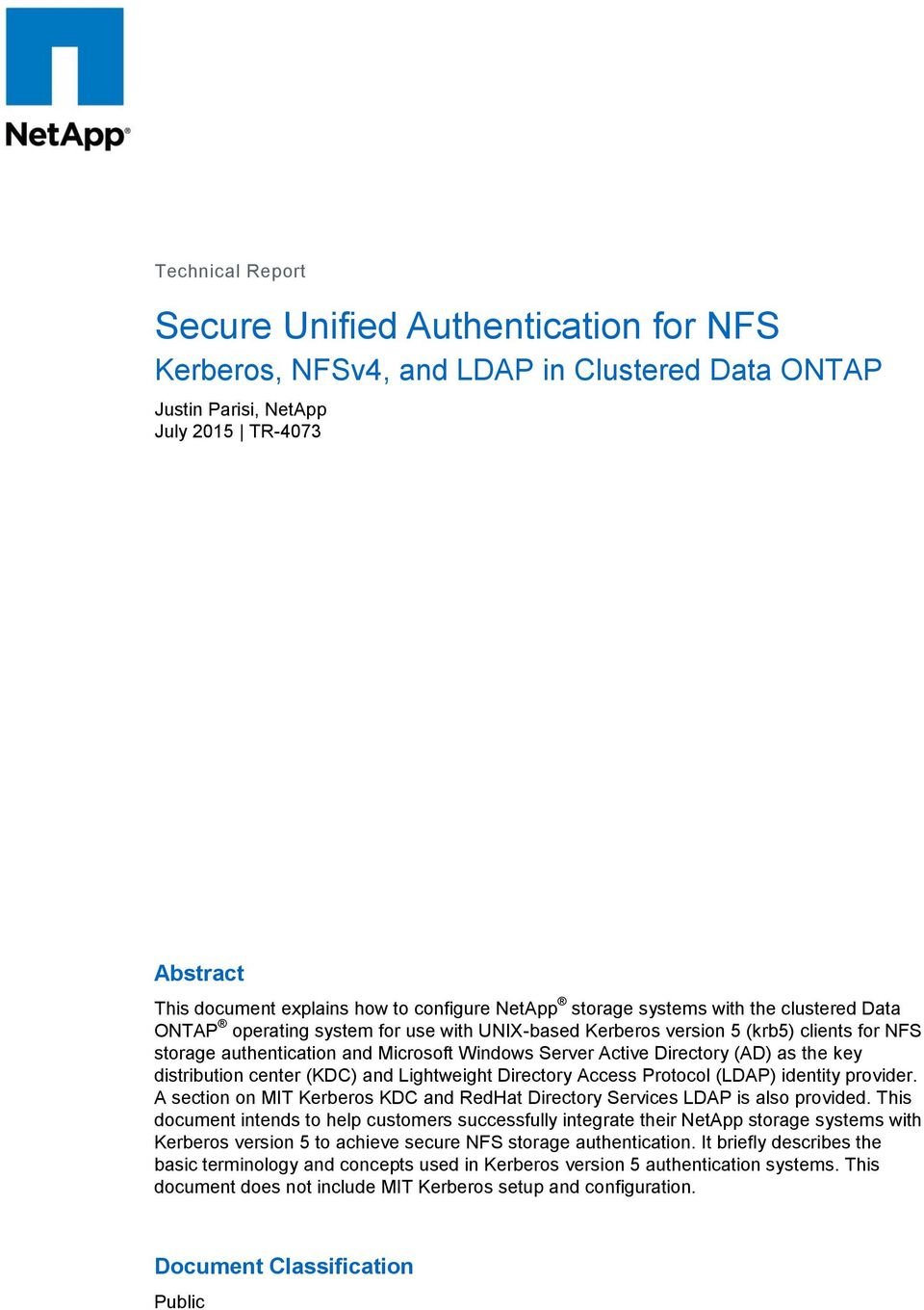 Secure Unified Authentication for NFS - PDF