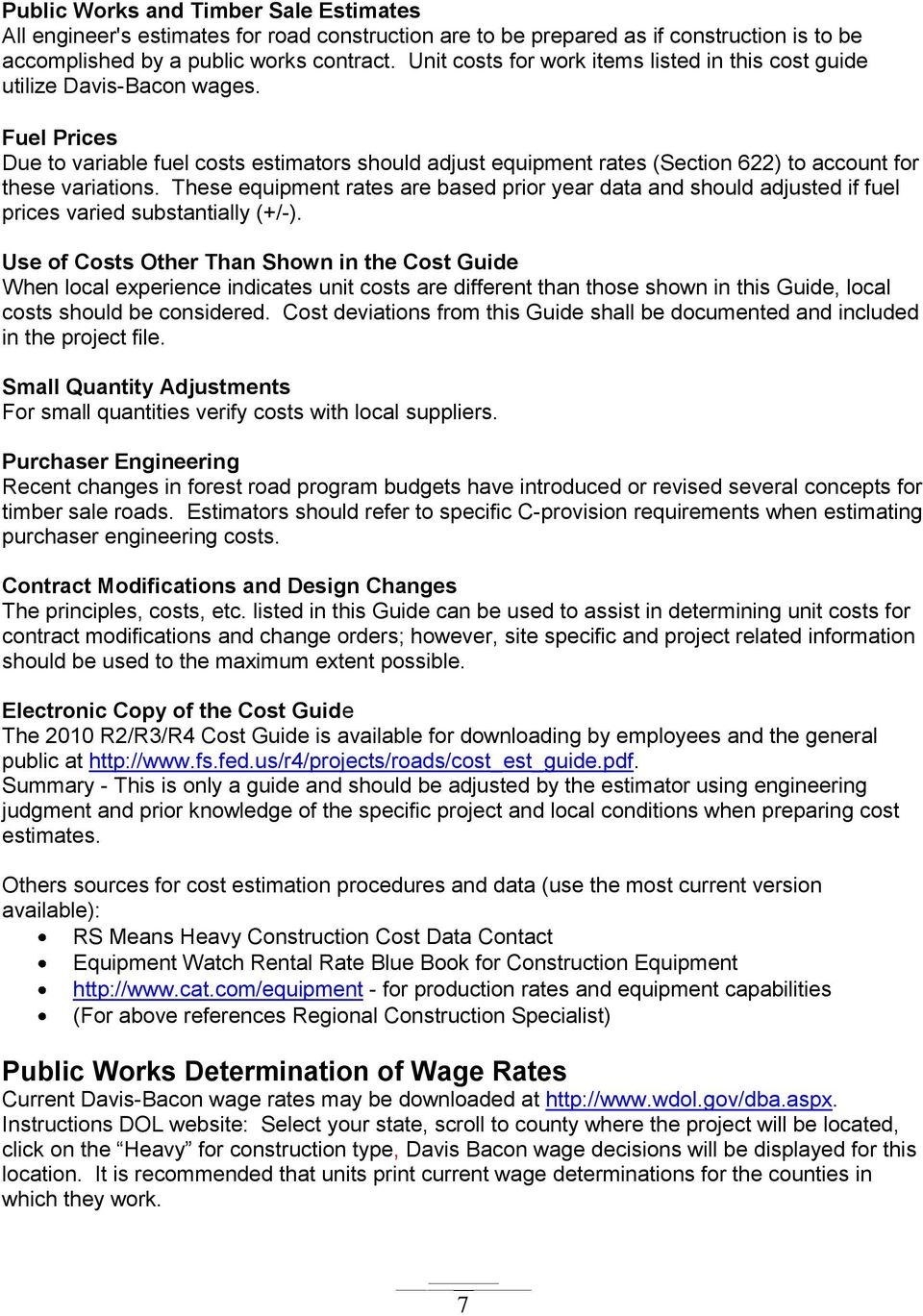 Cost Estimating Guide for Road Construction - PDF