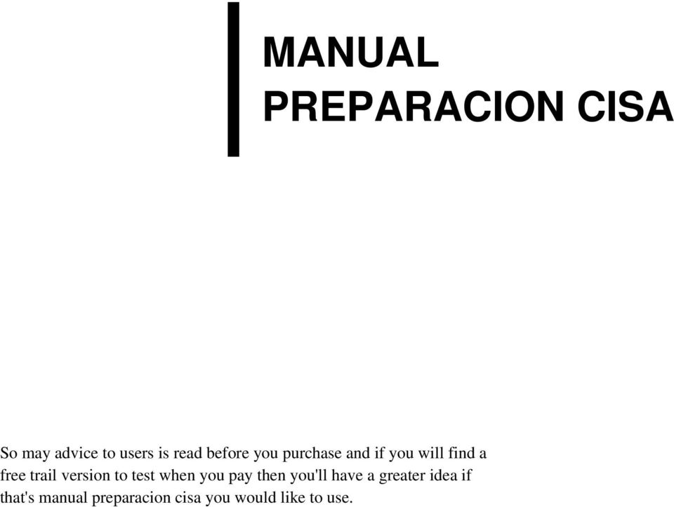 manual preparacion cisa pdf rh docplayer net manual de preparacion examen cisa