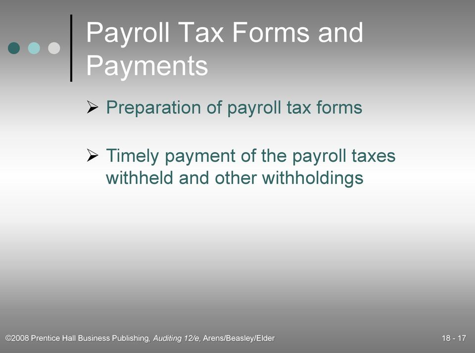 Audit of the Payroll and Personnel Cycle - PDF