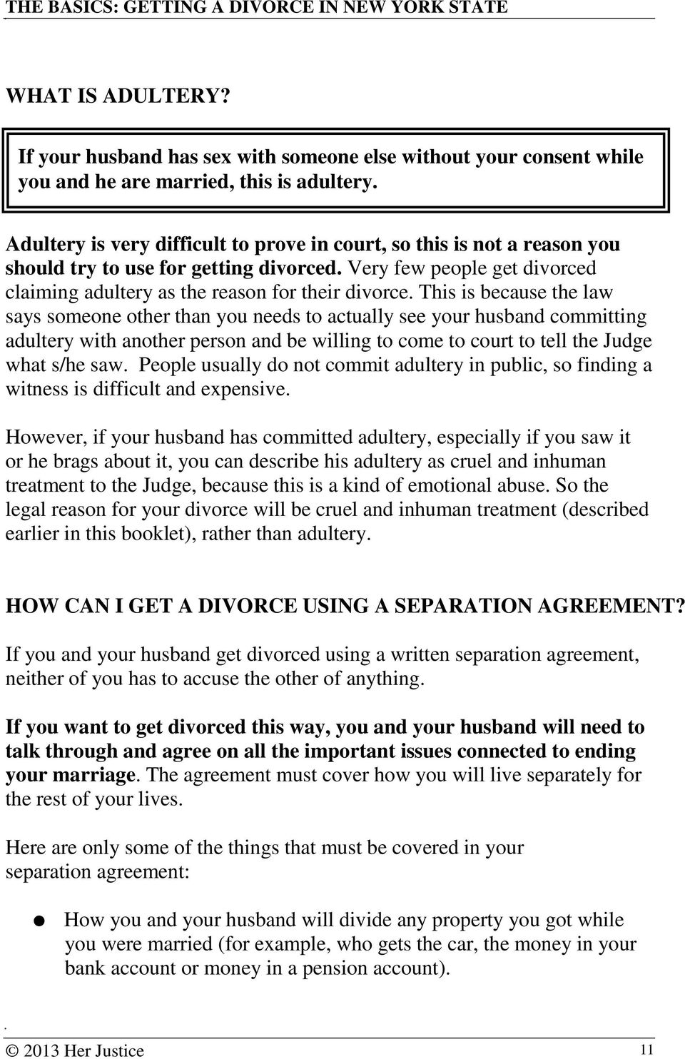 The Basics Getting A Divorce In New York State Pdf