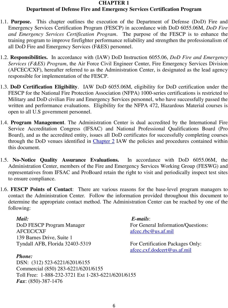 Department Of Defense Fire And Emergency Services Certification