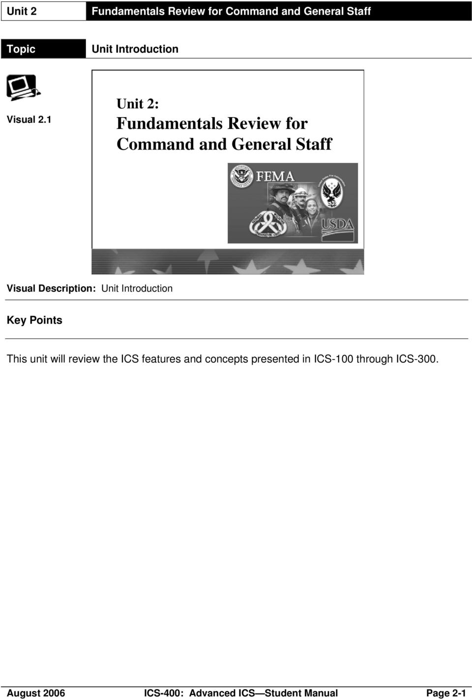 ICS-400: Advanced ICS for Command and General Staff, Complex