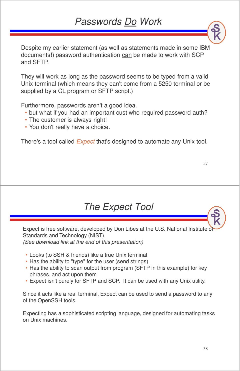Scripting the OpenSSH, SFTP, and SCP Utilities on i  Scott Klement - PDF