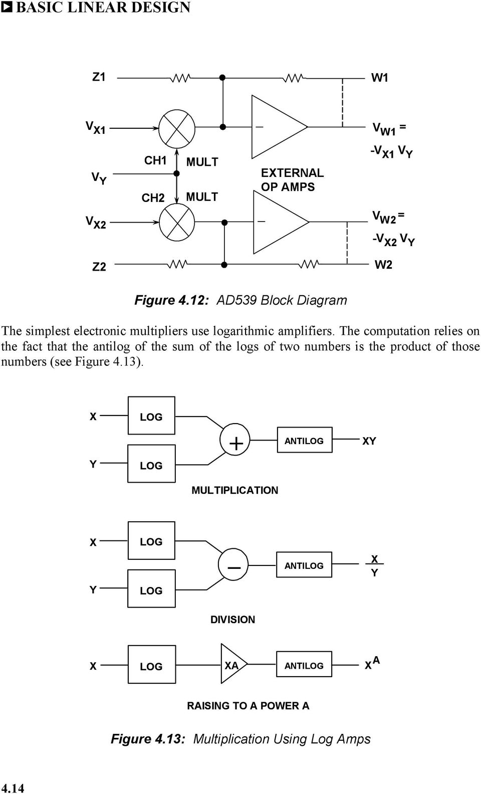Chapter 4 Rf If Circuits Pdf Figure Block Diagram Of Detector And Amplifier The Computation Relies On Fact That Antilog Sum Logs