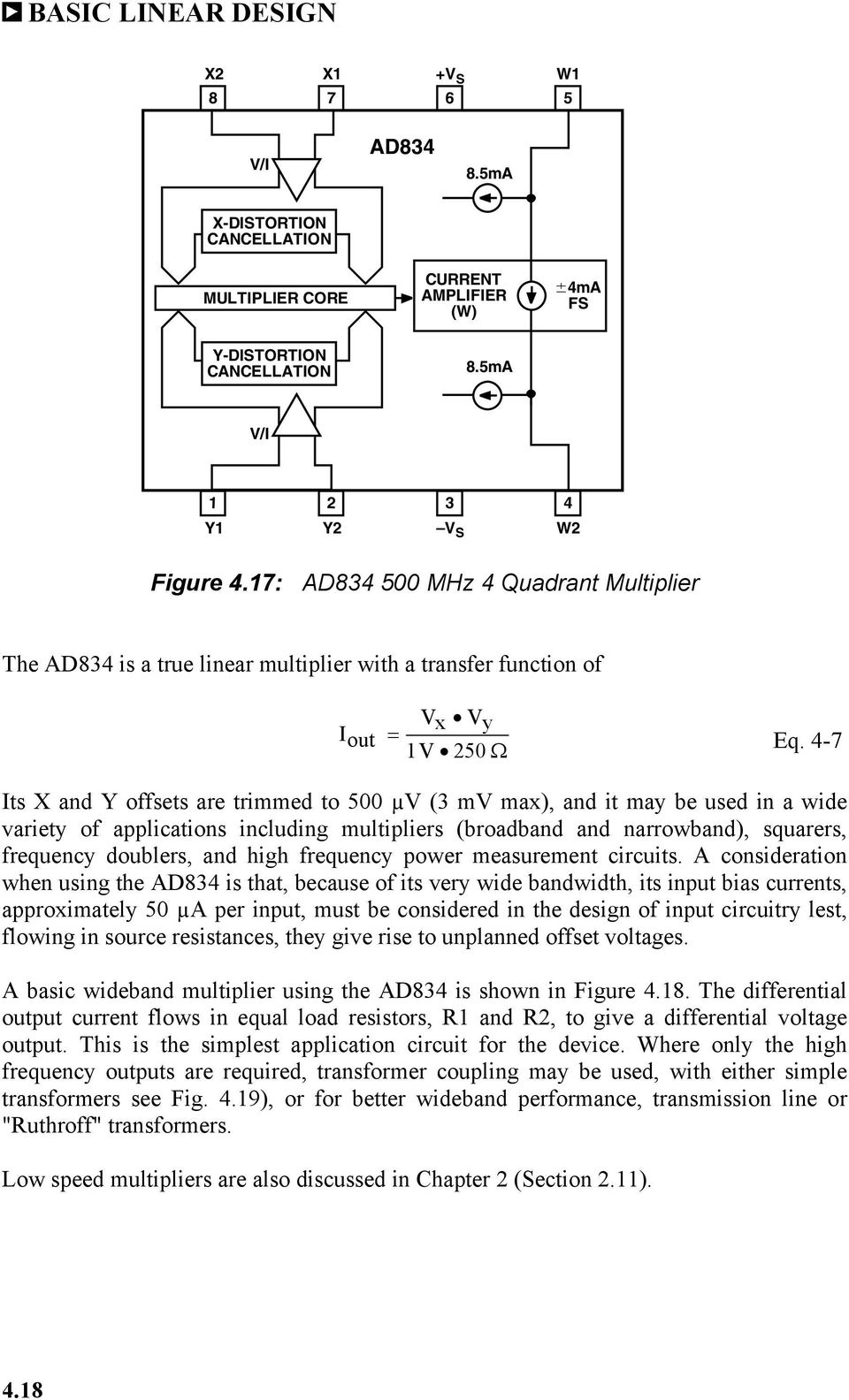 Chapter 4 Rf If Circuits Pdf Wide Band Amplifier For 10mhz 500mhz Input 7 Its X And Y Offsets Are Trimmed To 500 V 3 Mv
