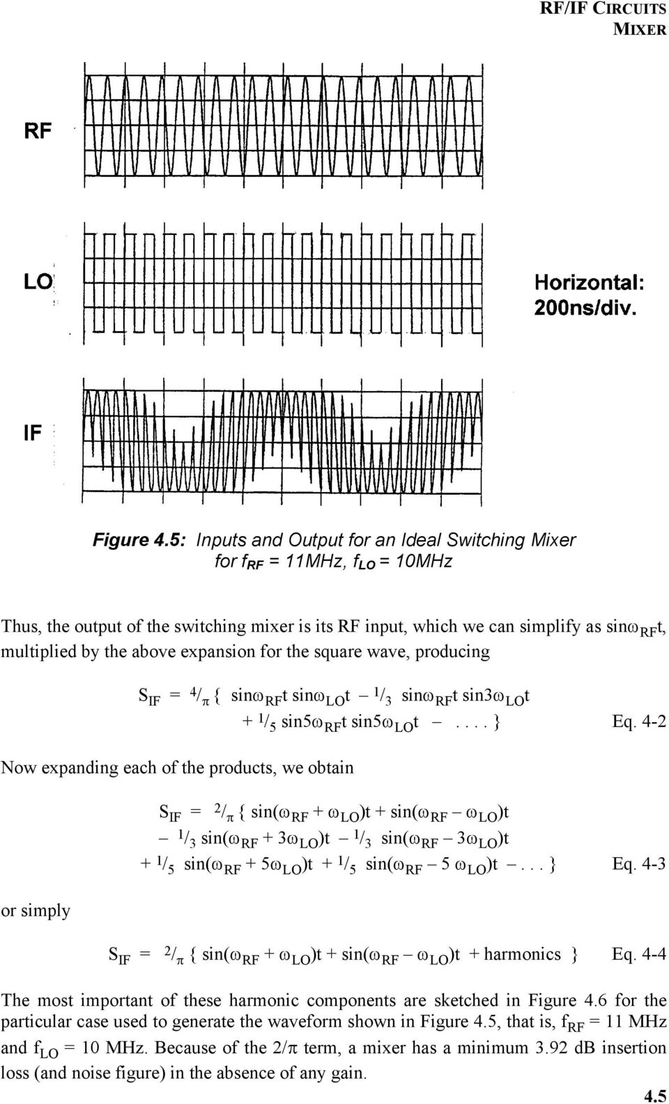 Chapter 4 Rf If Circuits Pdf 10 Mhz Variable Frequency Oscillator Signalprocessing Circuit Expansion For The Square Wave Producing S Sin