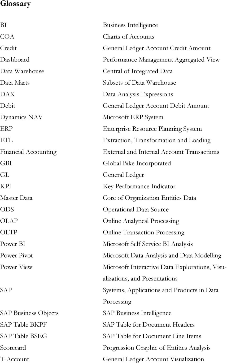 Extraction and Transformation of General Ledger Data from