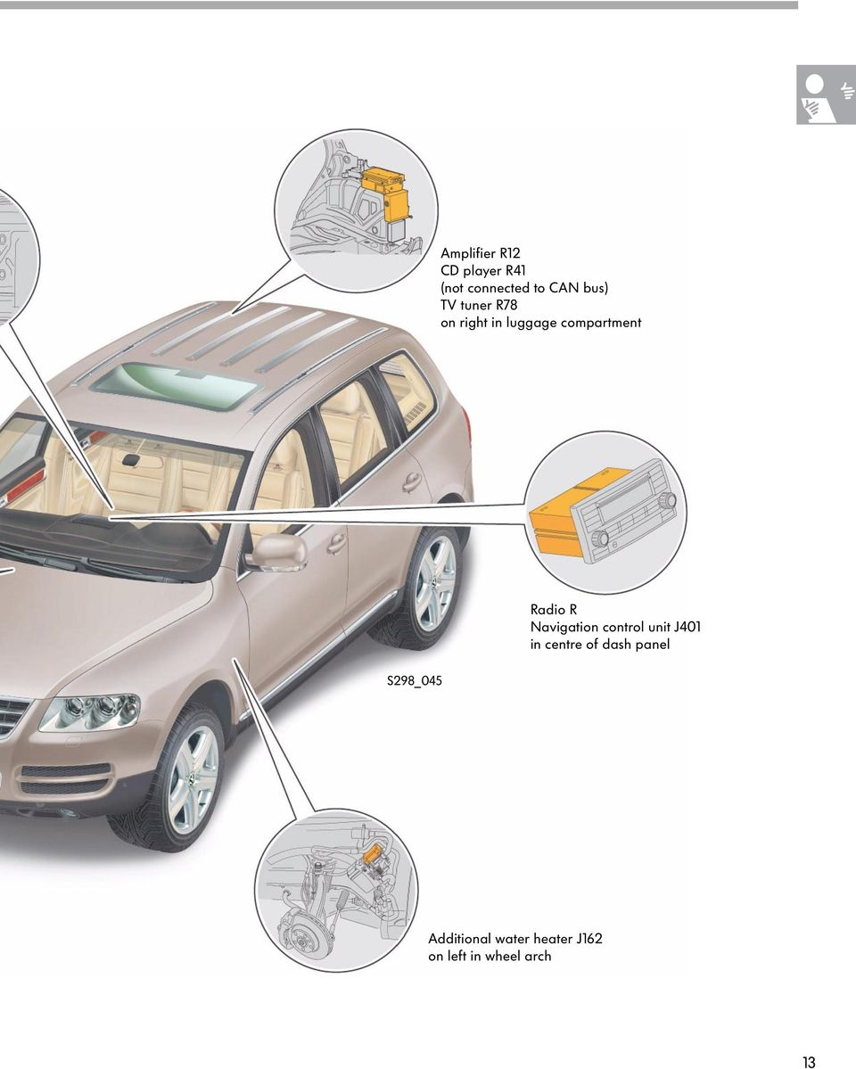 The Touareg Electrical System Pdf Diagram Besides 2003 Jaguar S Type Wiring Opel Astra H Radio R Navigation J401 In Centre Of Dash Panel