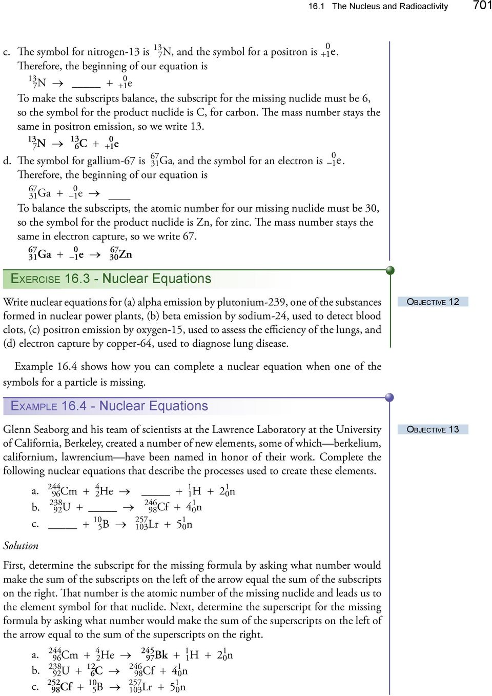 Chapter The Nucleus And Radioactivity Uses Of Radioactive Substances