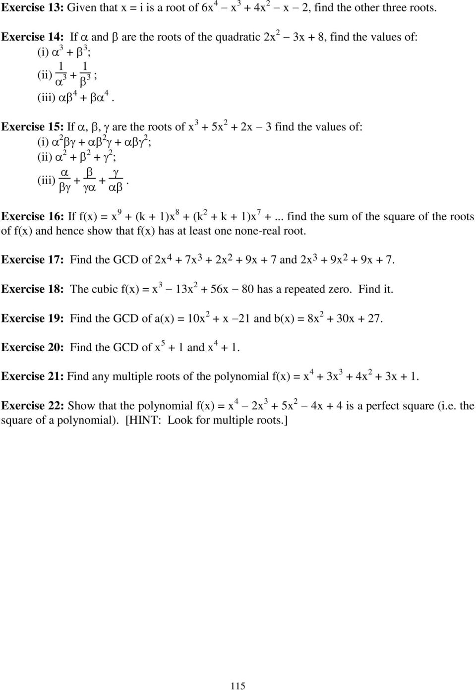 What Are The Roots Of Polynomial Equation X 3 5x 5 2x 2