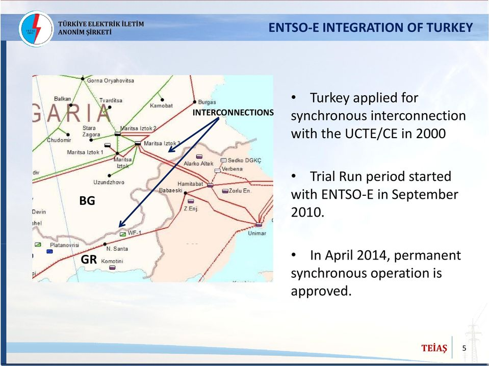 GR TR Trial Run period started with ENTSO-E in September 2010.